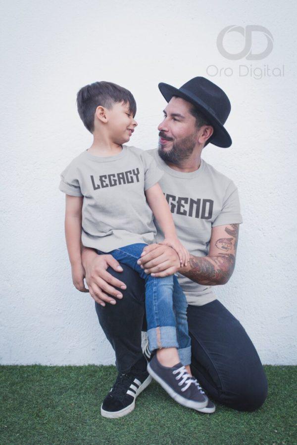 Playeras para padres e hijos